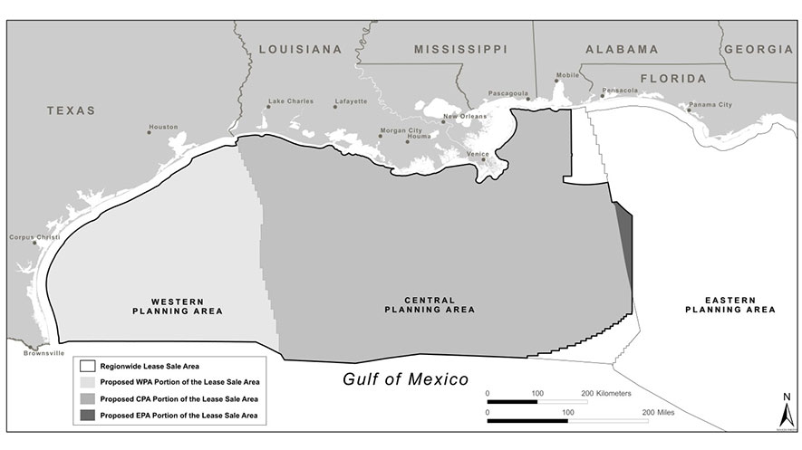 Boem completes environmental review of gulf of mexico for Environmental management bureau region 13