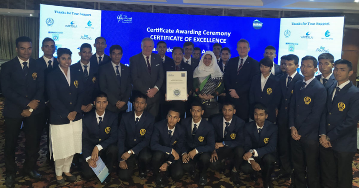 IMarEST Awards First Certificate of Excellence to Bangladesh Marine Academy