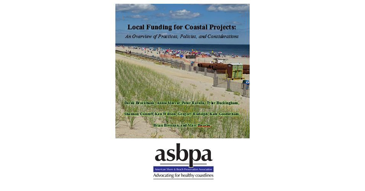 National Coastal Organization Releases Report on Local Funding Tools for Beach Projects