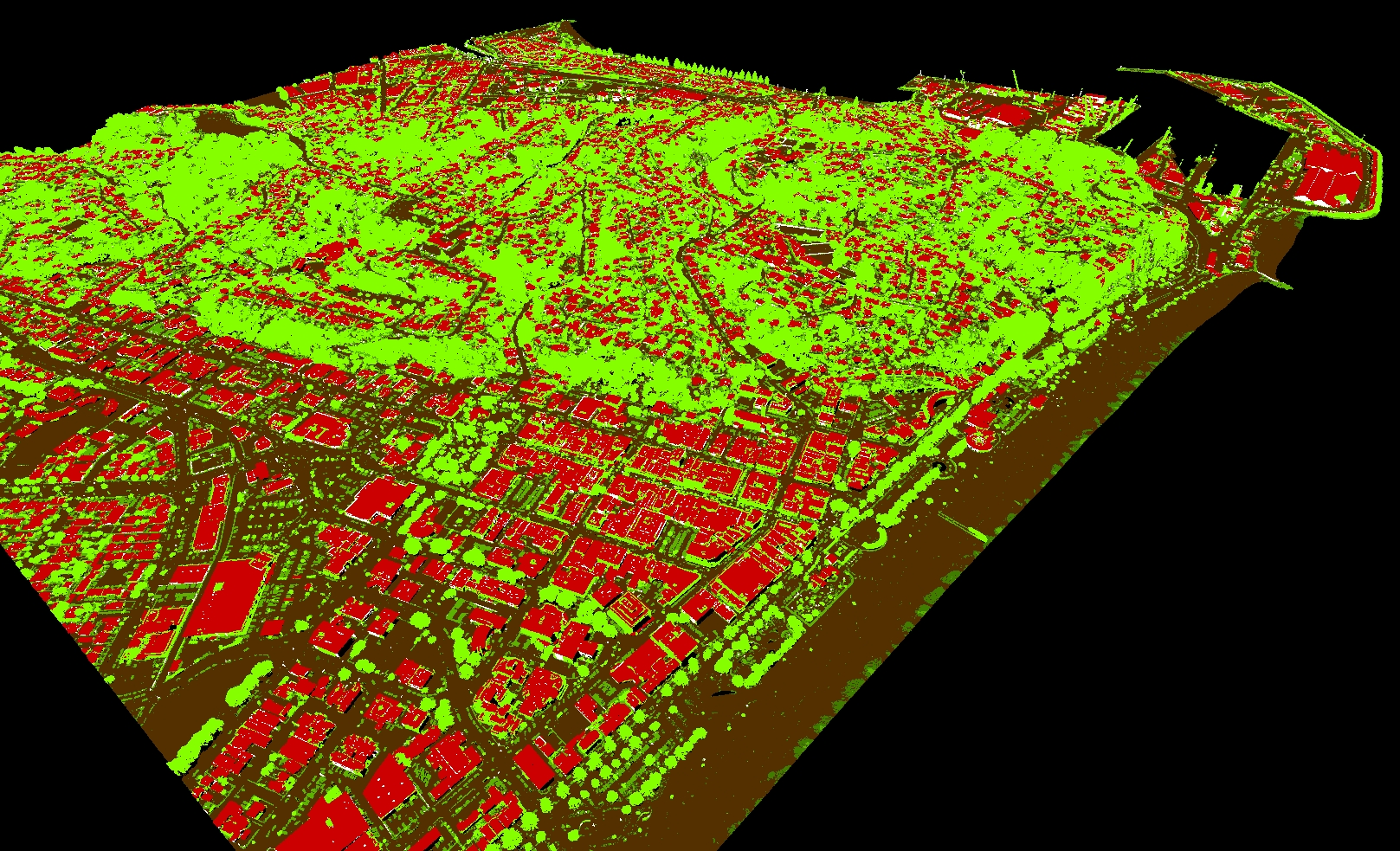 Point Cloud data over Napier NZ Class
